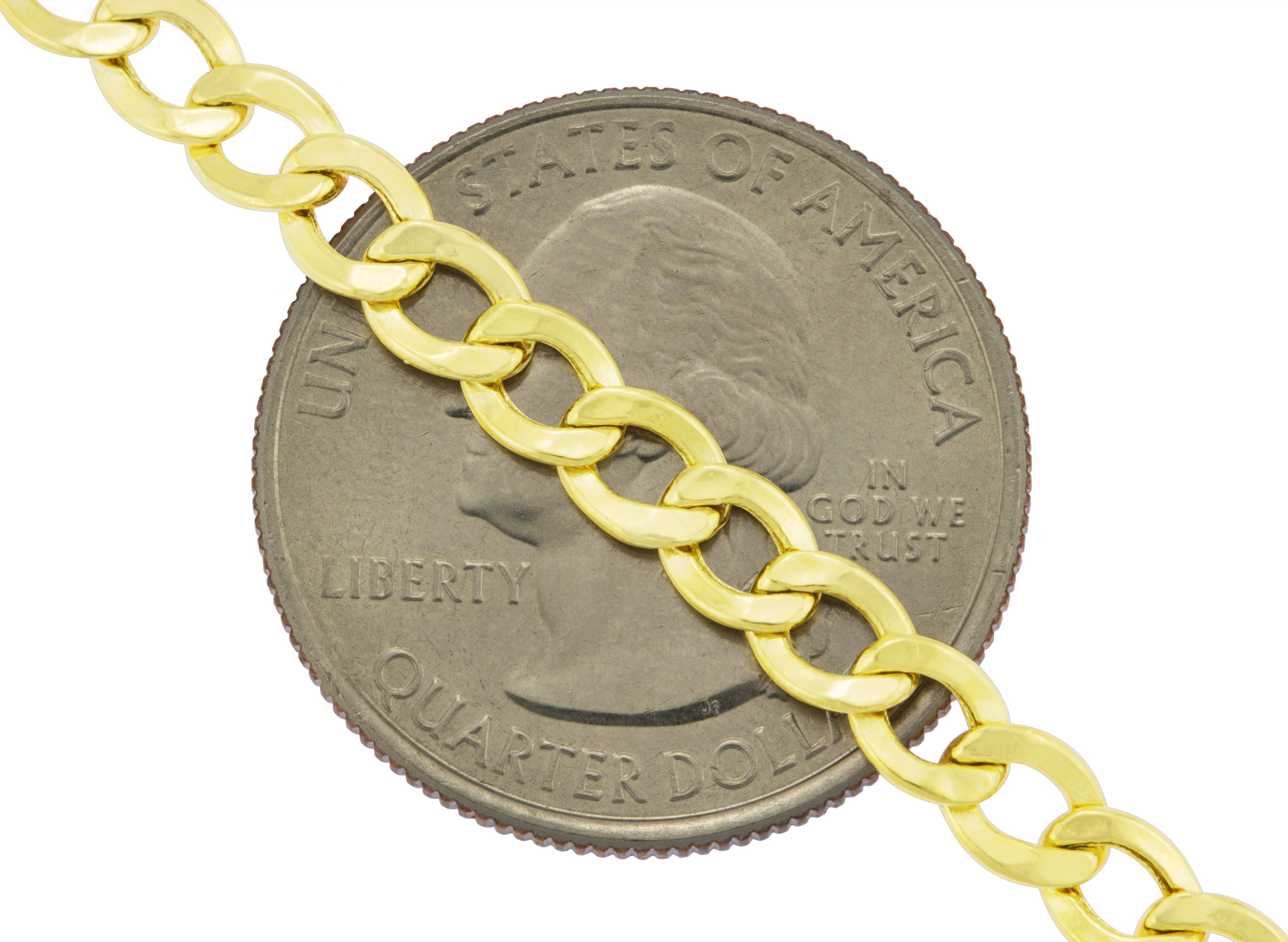 Real-14K-Yellow-Gold-4-5mm-Cuban-Curb-Chain-Link-Bracelet-Anklet-Chain-7-034-8-034-9-034 thumbnail 23