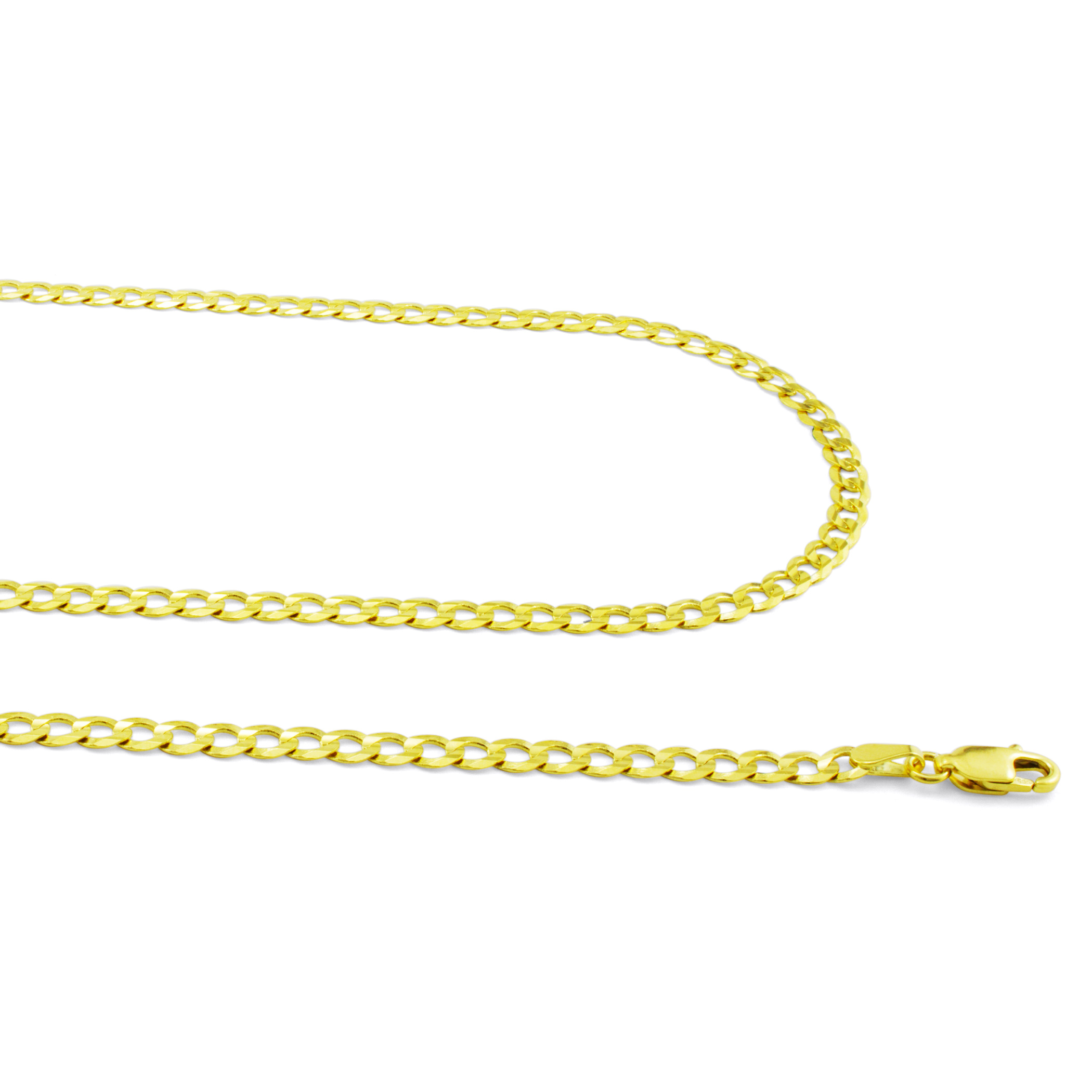 14K-Solid-Yellow-Gold-4mm-Cuban-Curb-Chain-Link-Bracelet-Lobster-Clasp-7-034-8-034-9-034 thumbnail 24