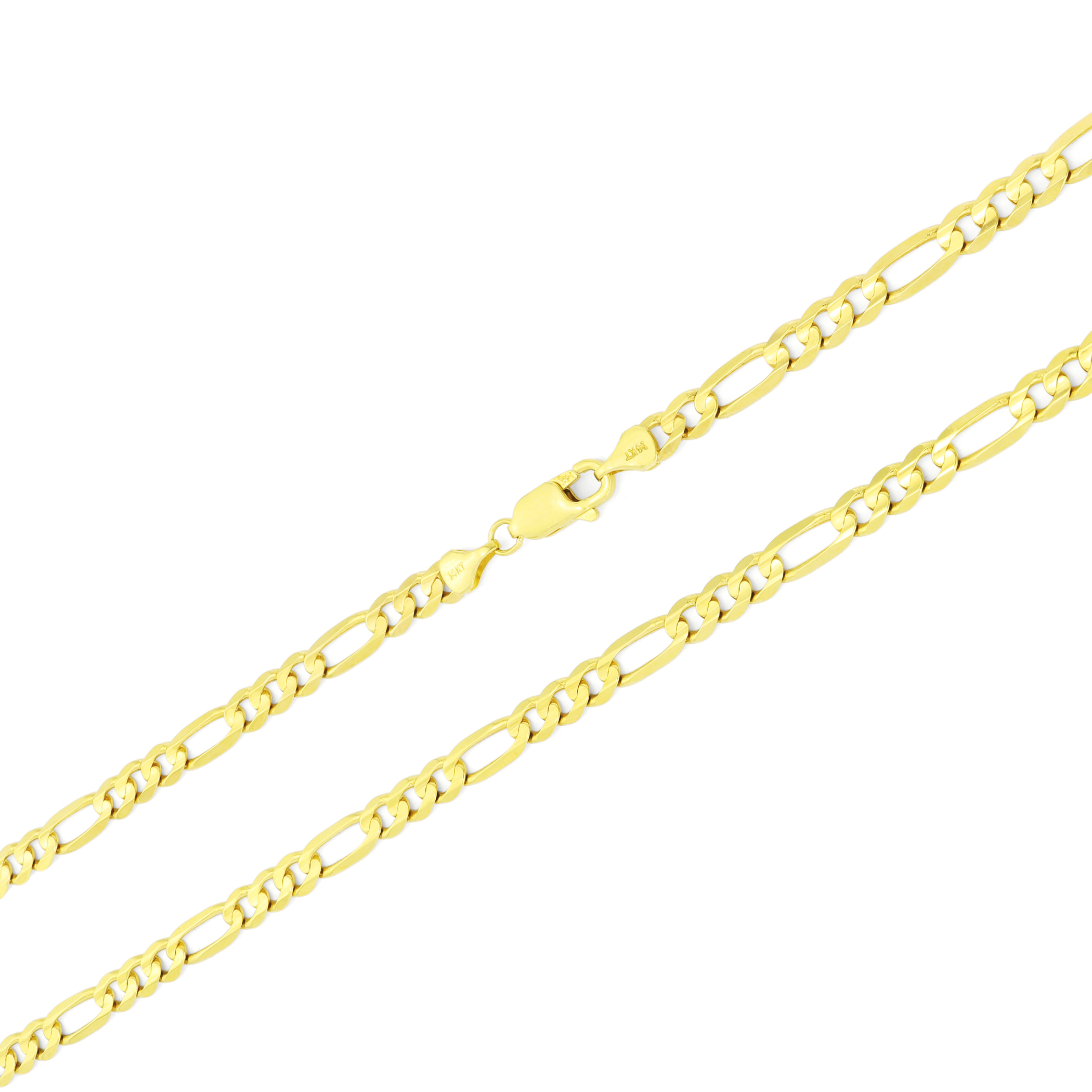 14K-Yellow-Gold-5-5mm-Italian-Figaro-Chain-Link-Bracelet-Mens-Women-7-034-8-034-9-034 thumbnail 17