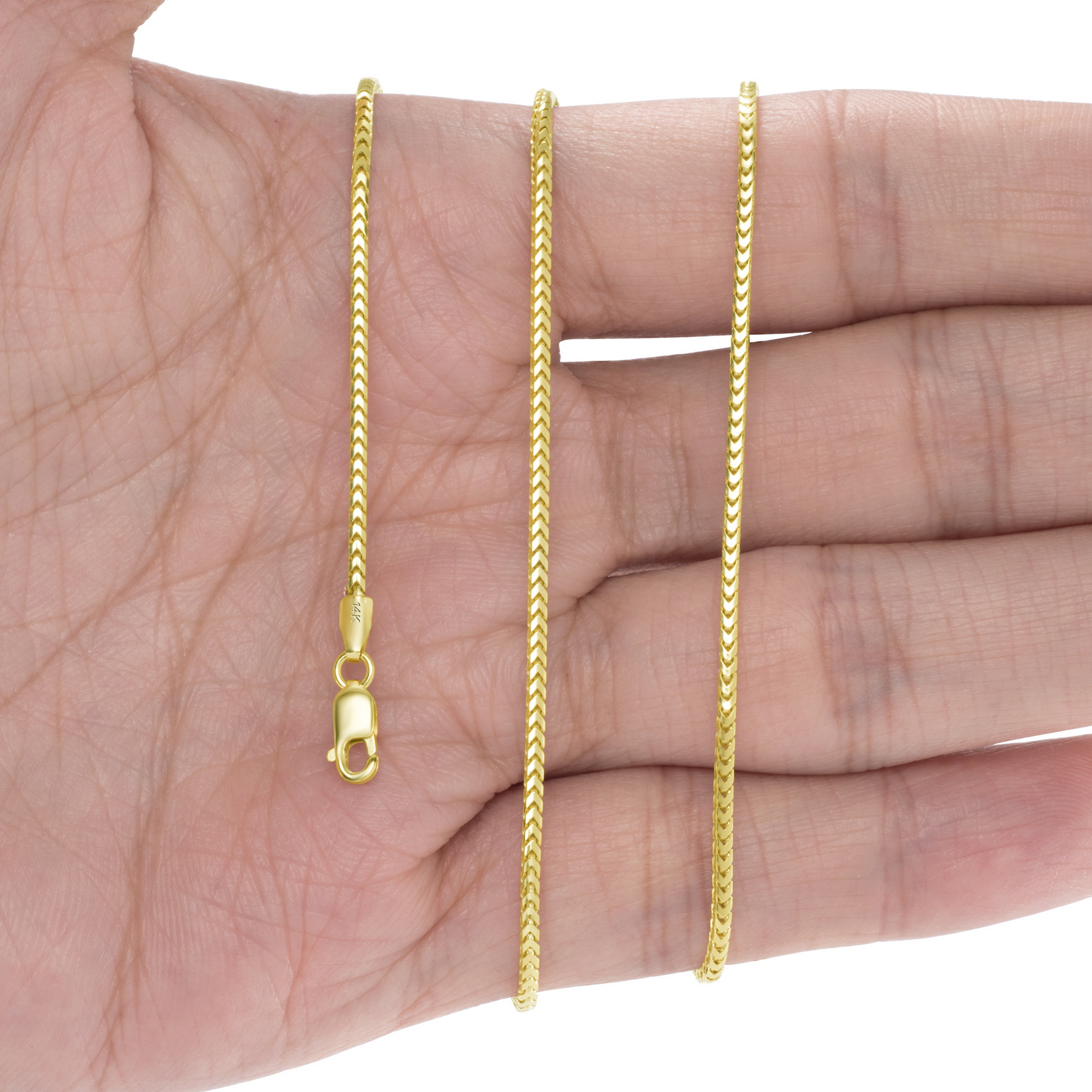 14K-Yellow-Gold-Solid-0-9mm-6mm-Round-Box-Franco-Chain-Pendant-Necklace-16-034-30-034 thumbnail 17