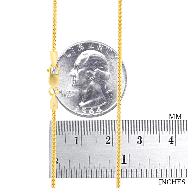 14K-Yellow-Gold-Solid-0-9mm-6mm-Round-Box-Franco-Chain-Pendant-Necklace-16-034-30-034 thumbnail 18
