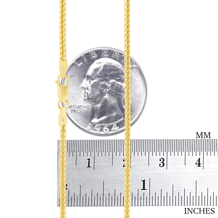 14K-Yellow-Gold-Solid-0-9mm-6mm-Round-Box-Franco-Chain-Pendant-Necklace-16-034-30-034 thumbnail 22