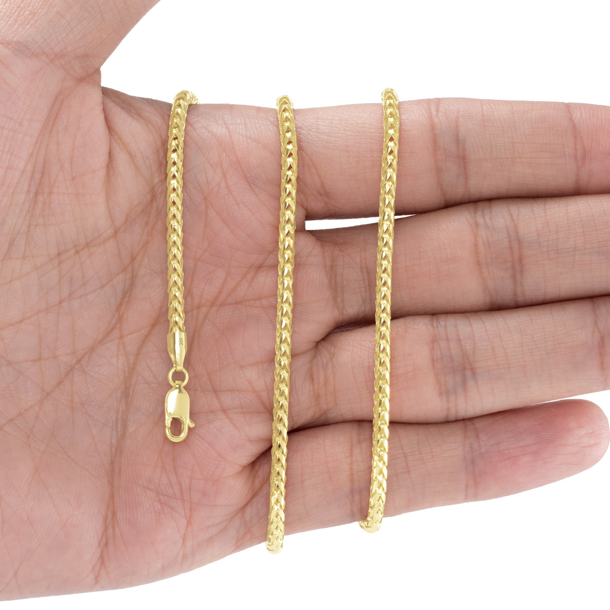 14K-Yellow-Gold-Solid-0-9mm-6mm-Round-Box-Franco-Chain-Pendant-Necklace-16-034-30-034 thumbnail 19