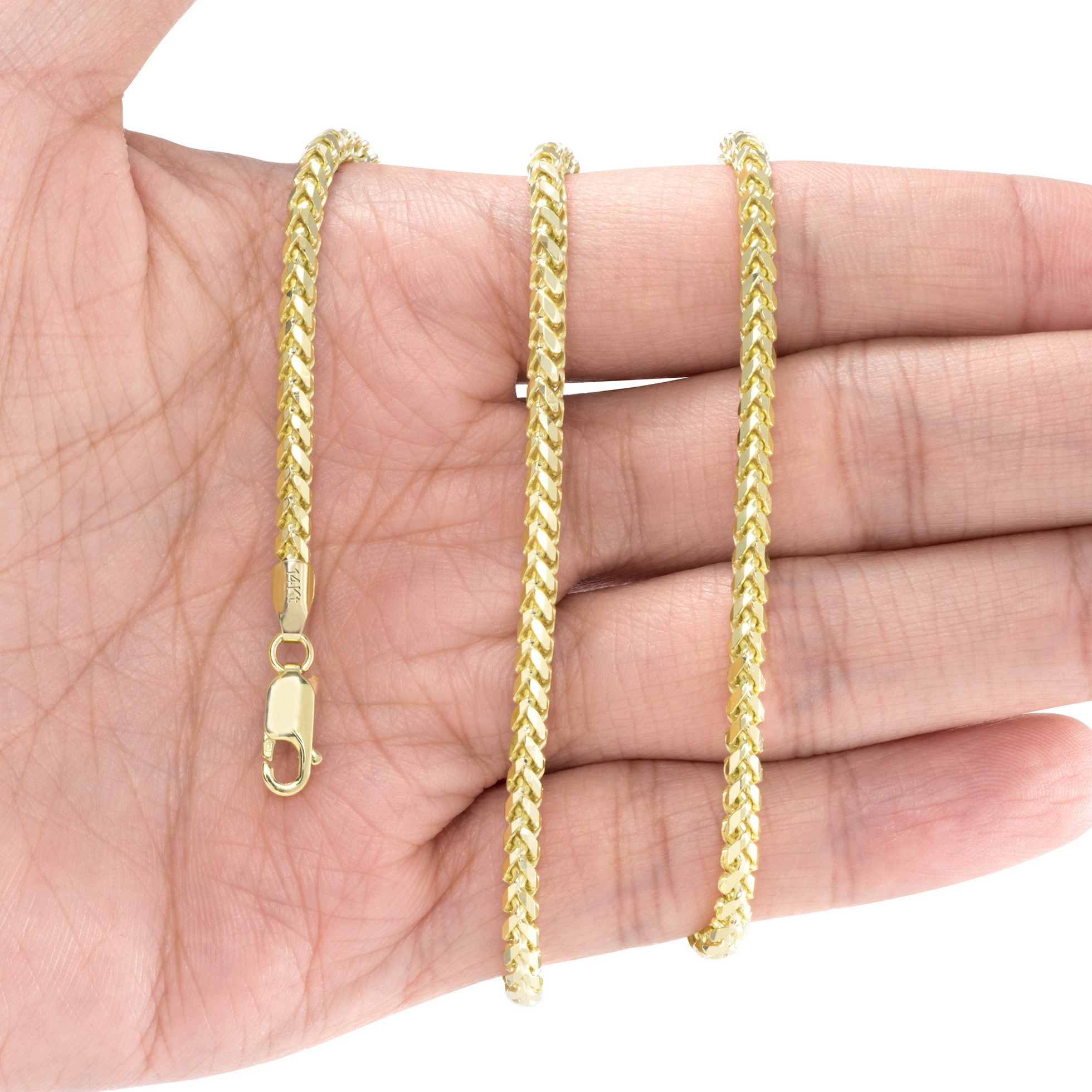 14K-Yellow-Gold-Solid-0-9mm-6mm-Round-Box-Franco-Chain-Pendant-Necklace-16-034-30-034 thumbnail 23