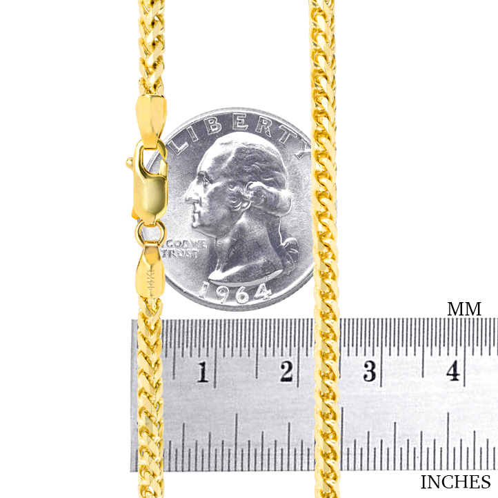 14K-Yellow-Gold-Solid-0-9mm-6mm-Round-Box-Franco-Chain-Pendant-Necklace-16-034-30-034 thumbnail 24