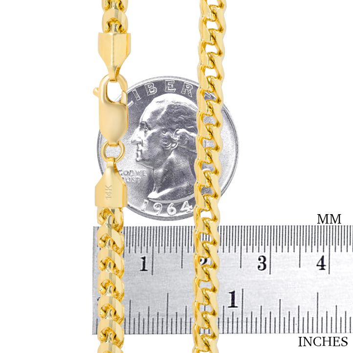 14K-Yellow-Gold-Solid-0-9mm-6mm-Round-Box-Franco-Chain-Pendant-Necklace-16-034-30-034 thumbnail 28