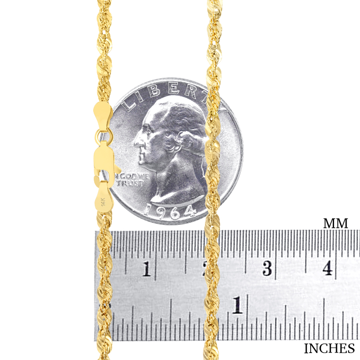 14K-Yellow-Gold-1-5mm-4mm-Italian-Rope-Chain-Pendant-Necklace-Mens-Women-16-034-30-034 thumbnail 17