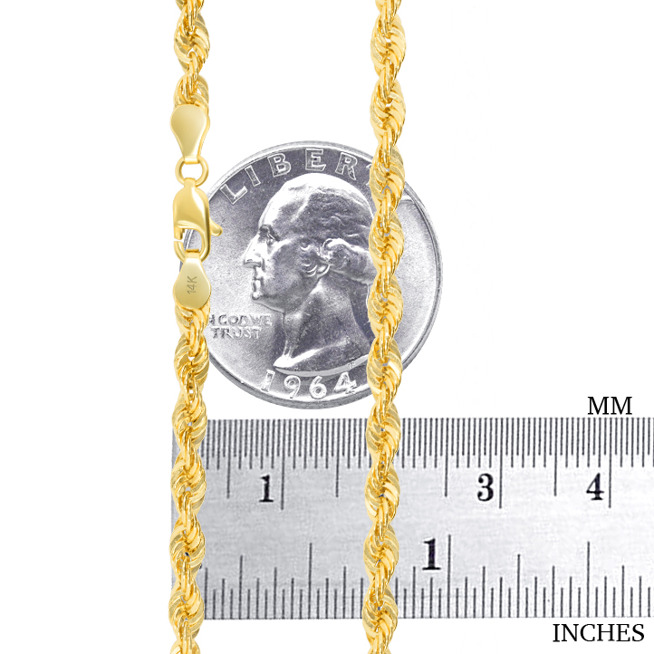 14K-Yellow-Gold-1-5mm-4mm-Italian-Rope-Chain-Pendant-Necklace-Mens-Women-16-034-30-034 thumbnail 19