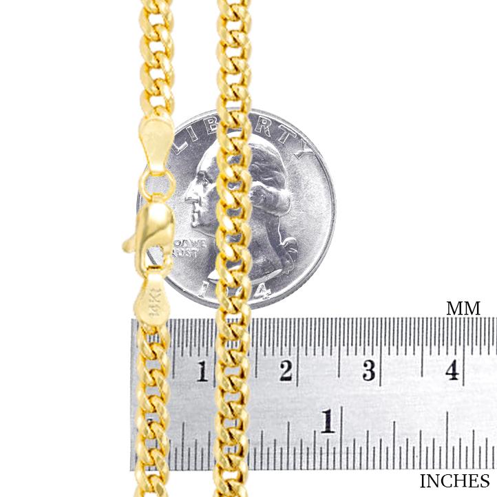 14K-Yellow-Gold-Solid-2-7mm-11mm-Miami-Cuban-Link-Chain-Bracelet-Men-Women-7-034-9-034 thumbnail 16