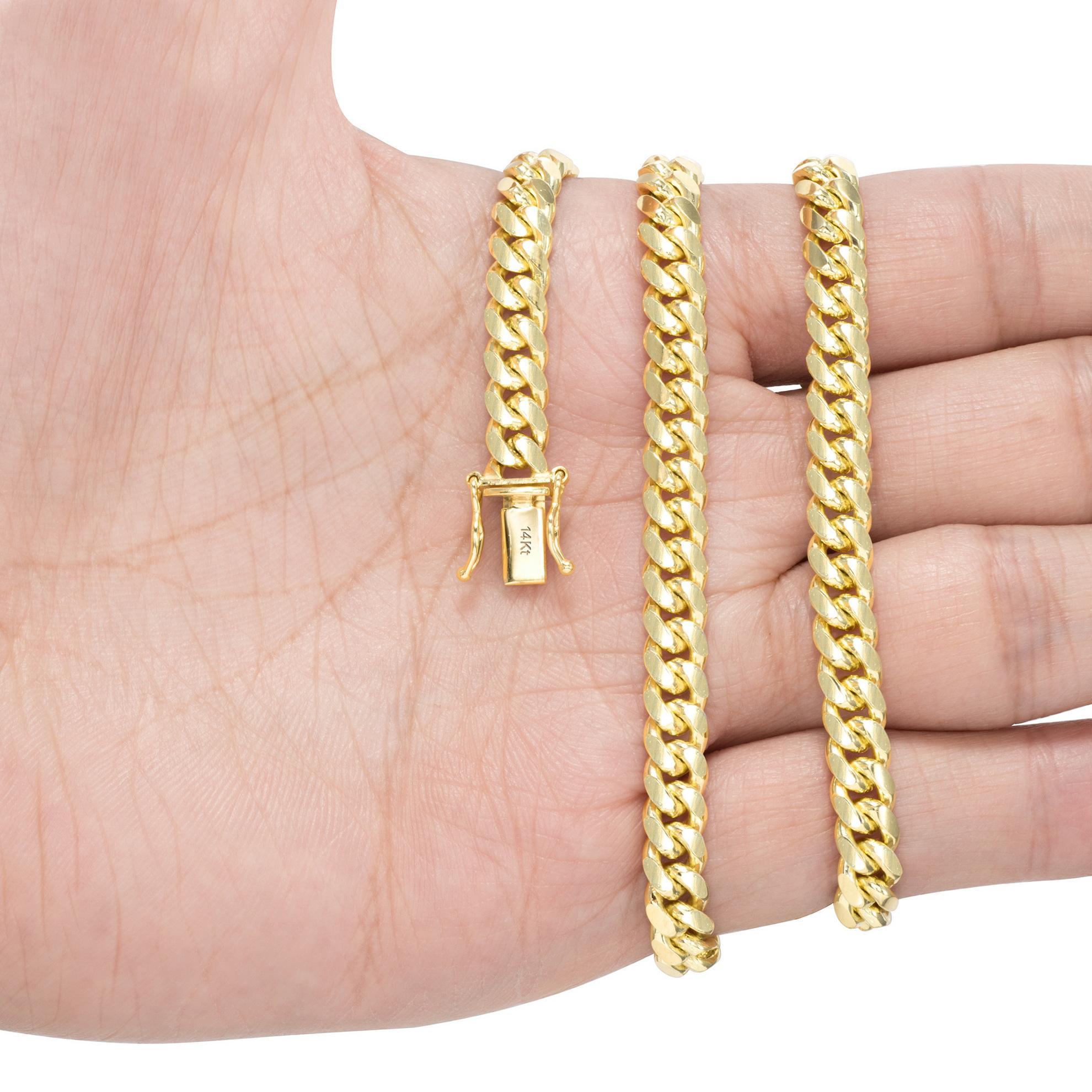 14K-Yellow-Gold-Solid-2-7mm-11mm-Miami-Cuban-Link-Chain-Bracelet-Men-Women-7-034-9-034 thumbnail 21