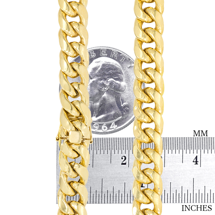 14K-Yellow-Gold-Solid-2-7mm-11mm-Miami-Cuban-Link-Chain-Bracelet-Men-Women-7-034-9-034 thumbnail 26