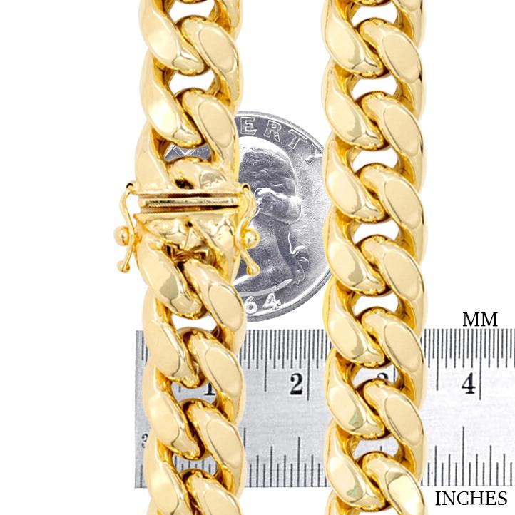 14K-Yellow-Gold-Solid-2-7mm-11mm-Miami-Cuban-Link-Chain-Bracelet-Men-Women-7-034-9-034 thumbnail 12