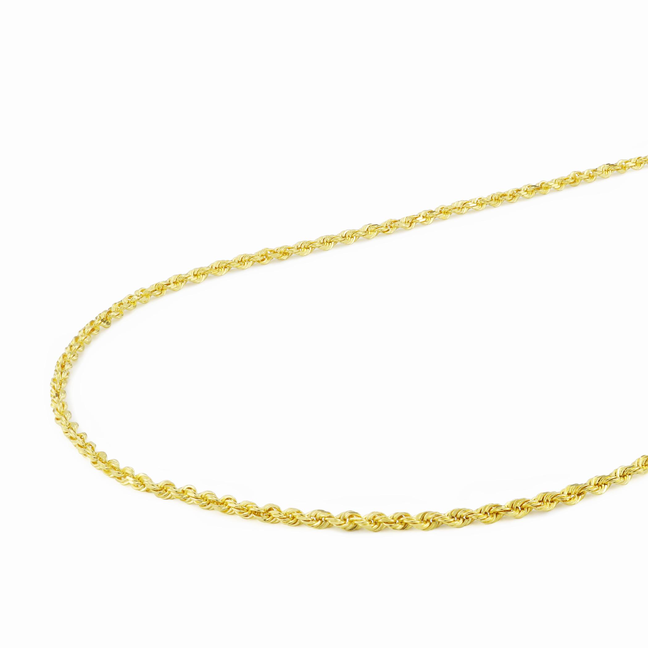 14K Yellow Neckalce 1MM 16 INCH Long 14k 1mm Solid D//C Spiga Chain