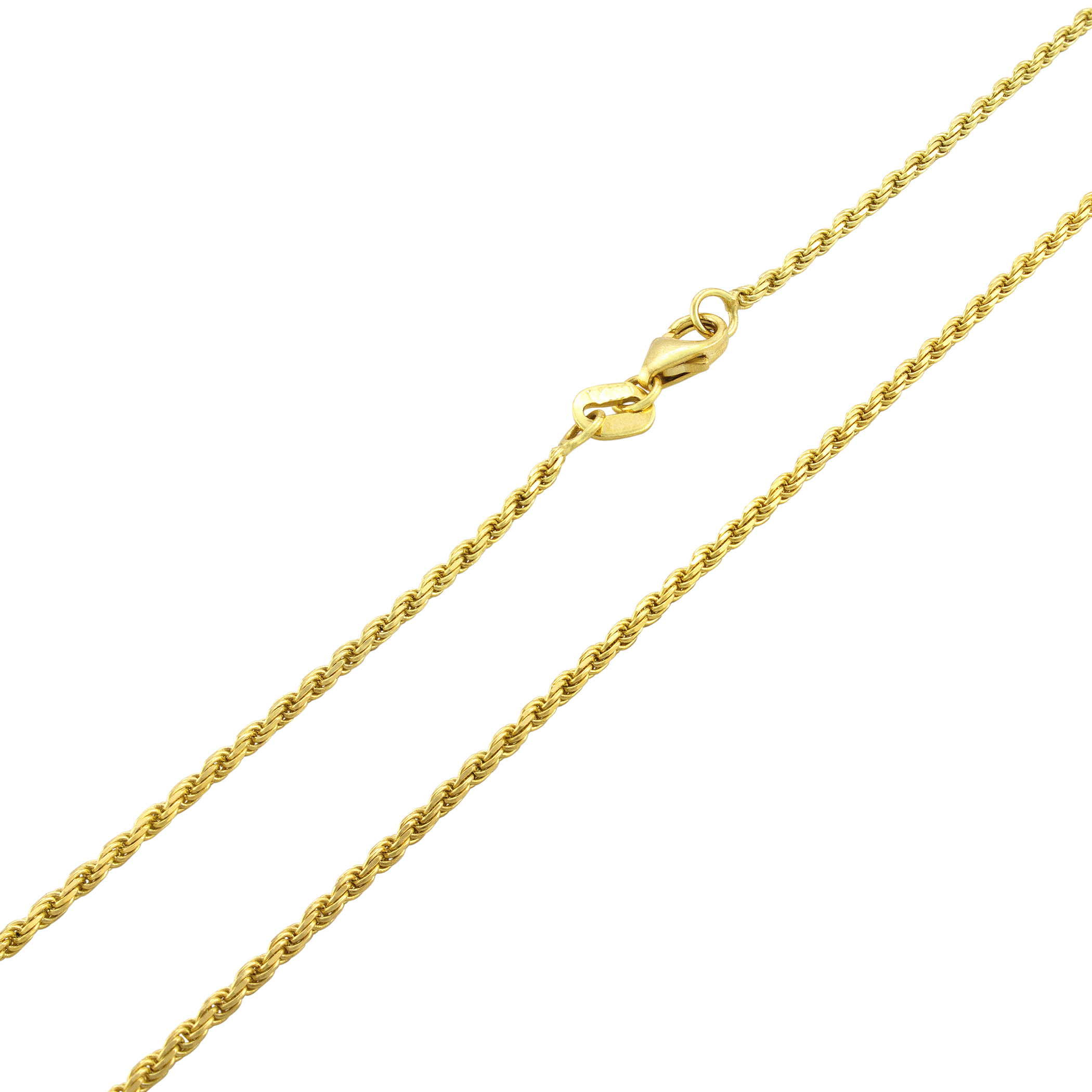 14K-Yellow-Gold-Solid-1-8mm-Diamond-Cut-Rope-Link-Chain-Pendant-Necklace-16-034-30-034 thumbnail 13