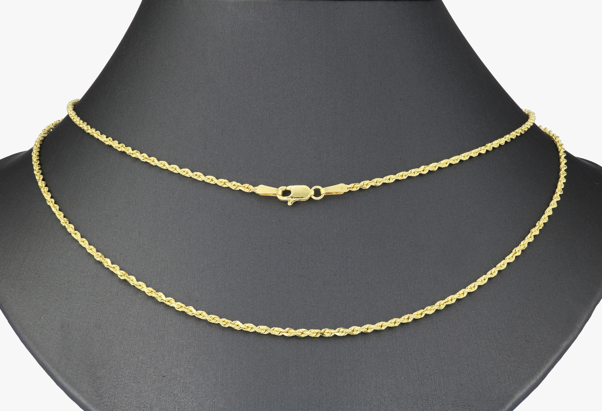 14K-Yellow-Gold-Solid-1-8mm-Diamond-Cut-Rope-Link-Chain-Pendant-Necklace-16-034-30-034 thumbnail 23