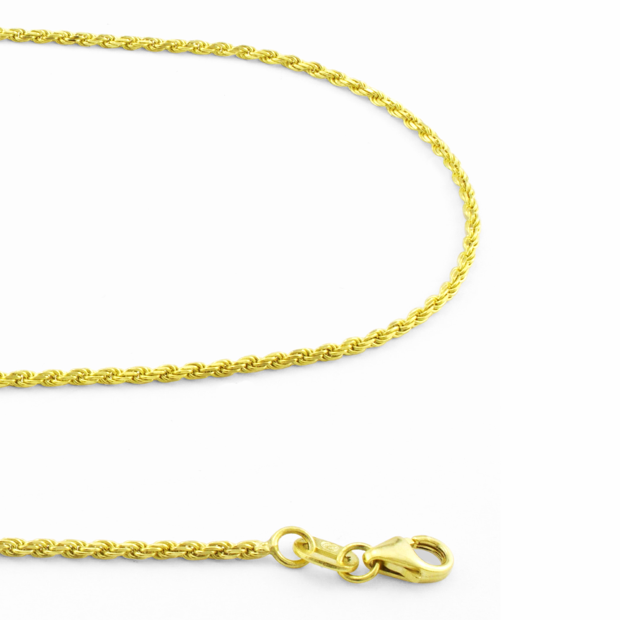 14K-Yellow-Gold-Solid-1-8mm-Diamond-Cut-Rope-Link-Chain-Pendant-Necklace-16-034-30-034 thumbnail 19