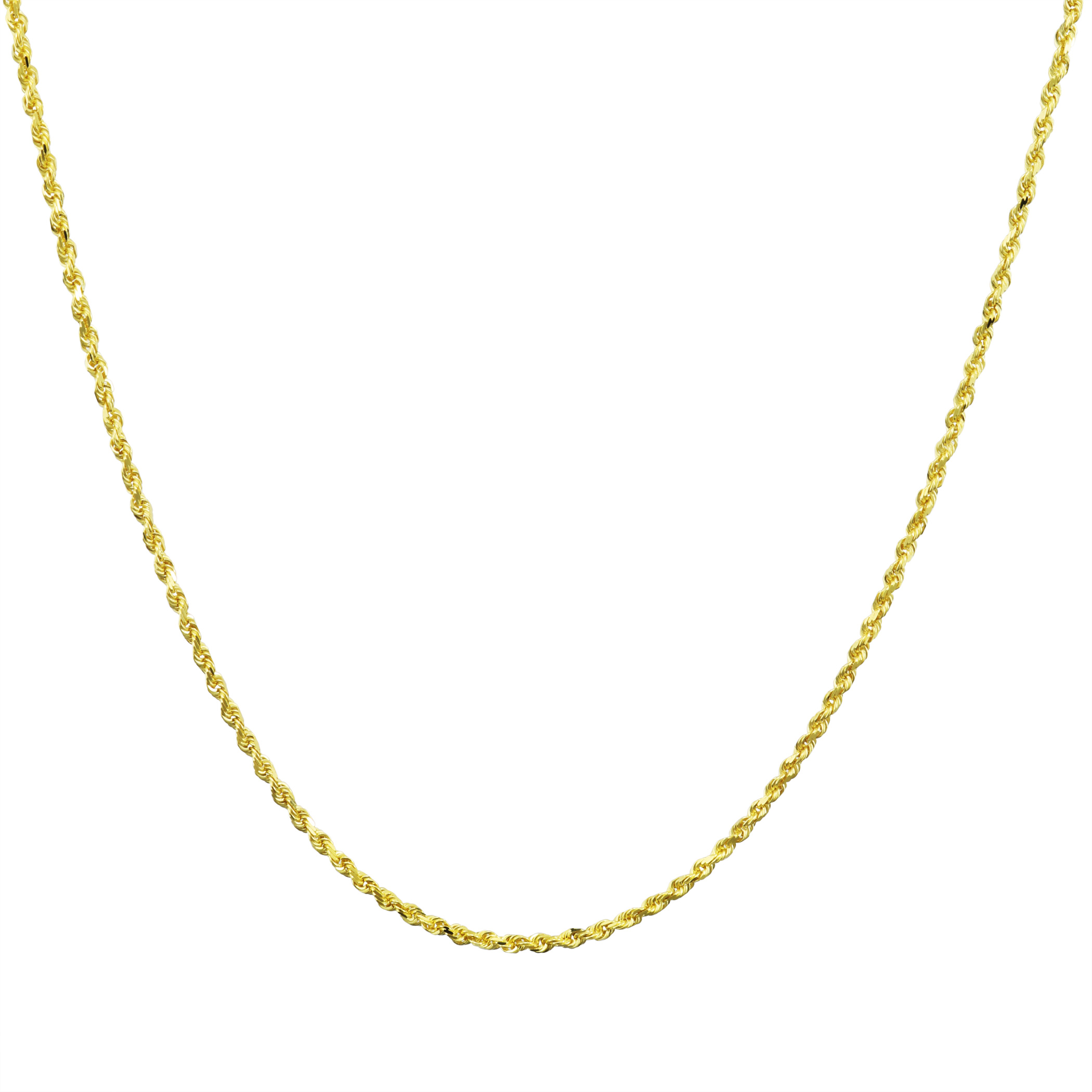 14K-Yellow-Gold-Solid-1-8mm-Diamond-Cut-Rope-Link-Chain-Pendant-Necklace-16-034-30-034 thumbnail 21
