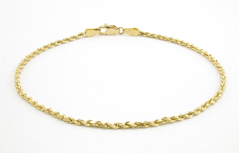 Fine Jewelry Womens 7 1/2 Inch 10K Gold Link Bracelet Me86n