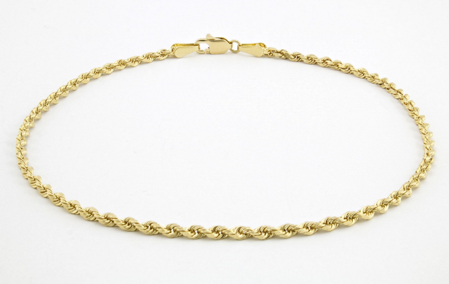 spring clasp solid itm worldwide bracelet ring shipping fast link rolo gold elephant anklet yellow