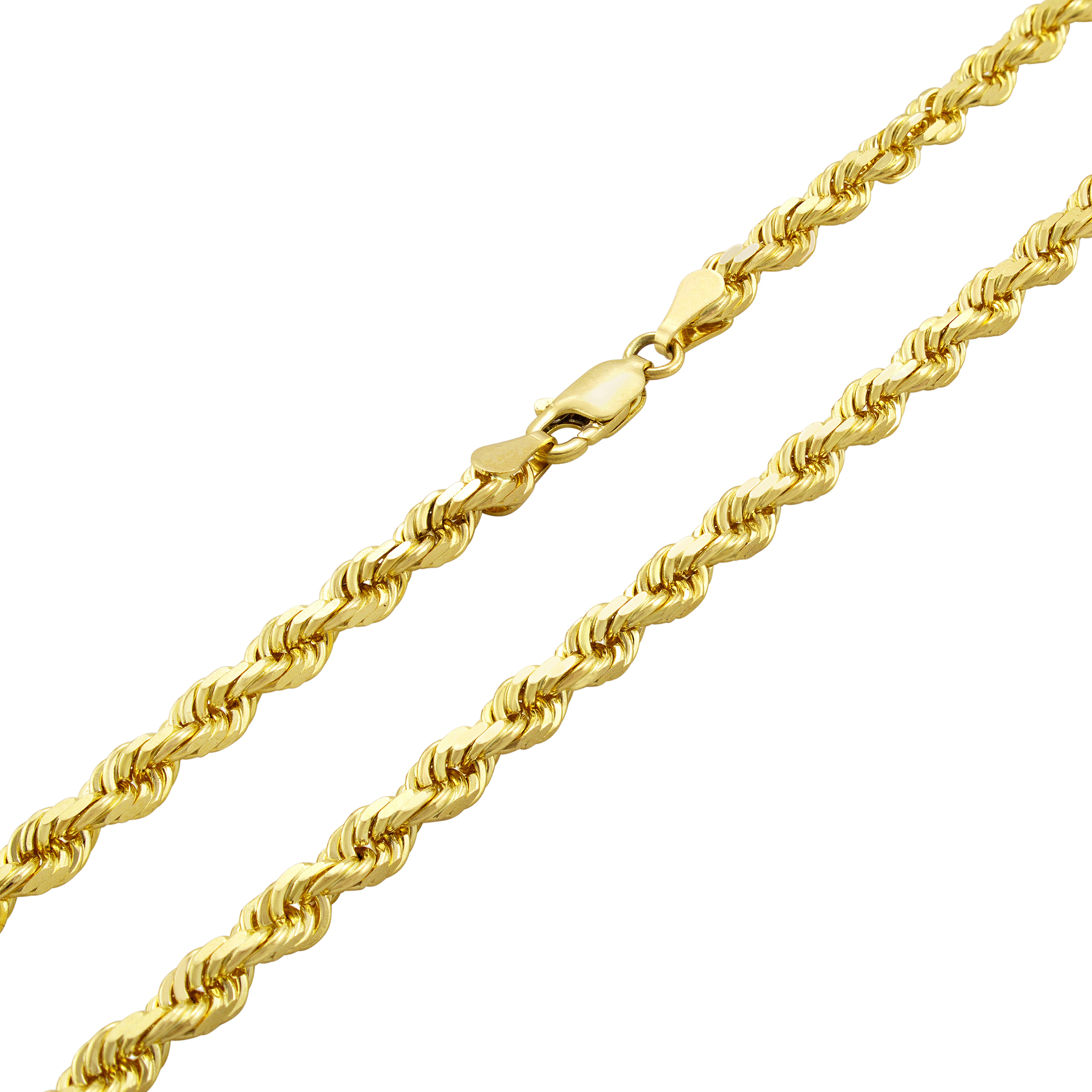 s dp necklace rope men diamond solid cut yellow chain gold