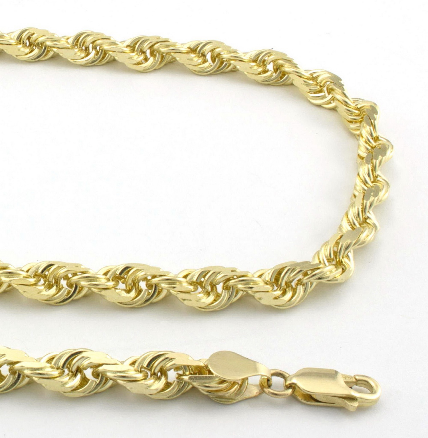 white necklace chain cut com dp s gold men solid diamond amazon duragold rope