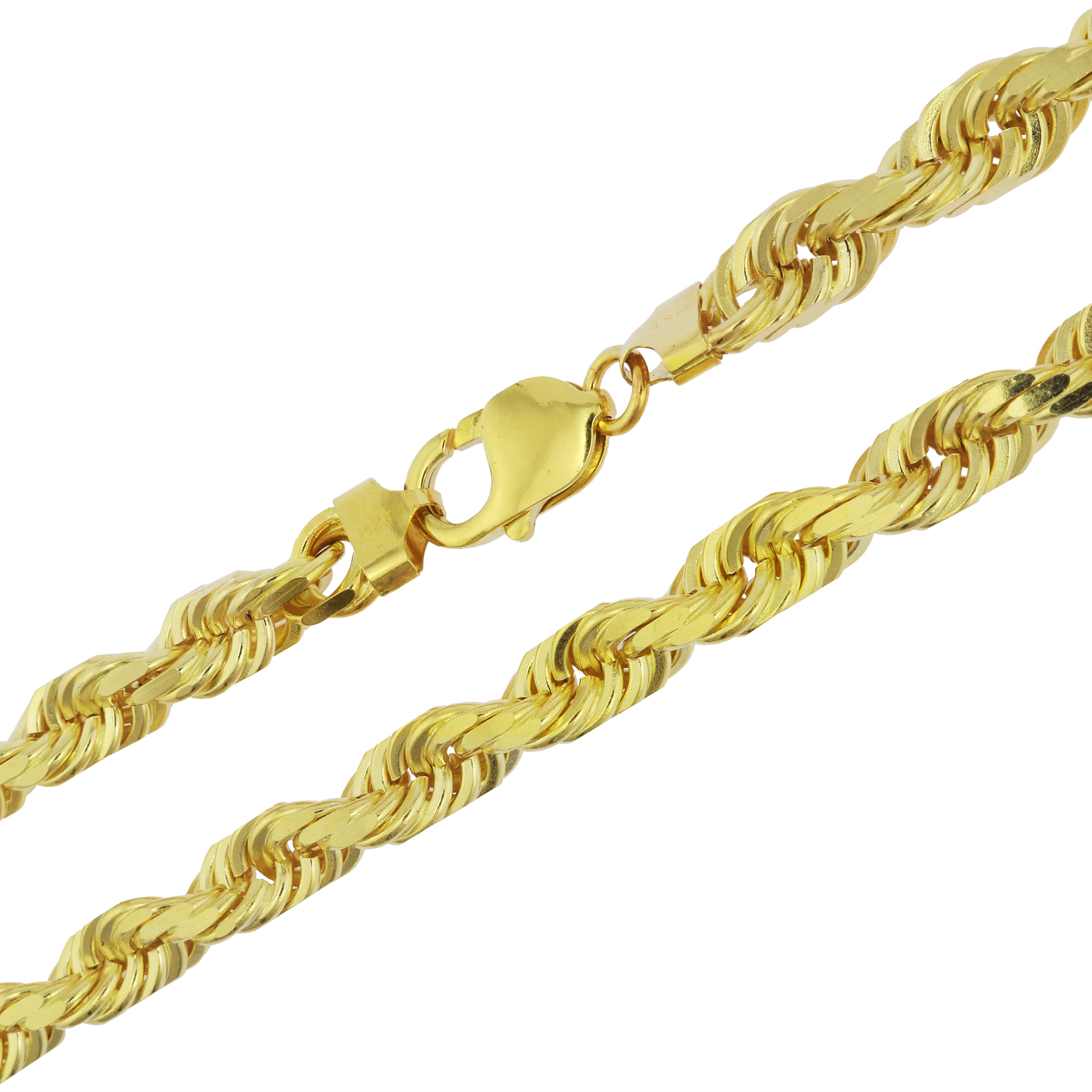 Italian Gold Chain >> Details About 14k Solid Yellow Gold 8mm Mens Heavy Thick Italian Rope Chain Necklace 24 30