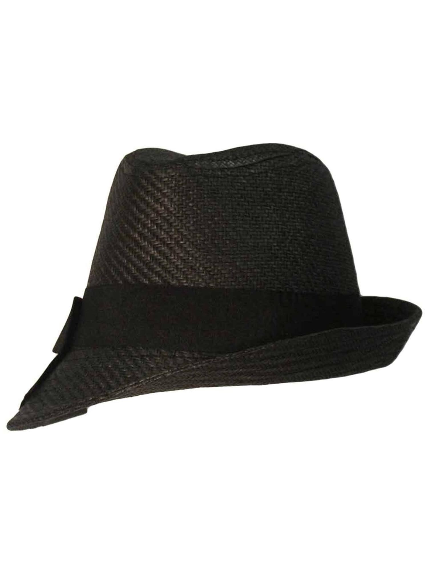 Luxury Divas Panama Style Wool Fedora Hat with Buckle
