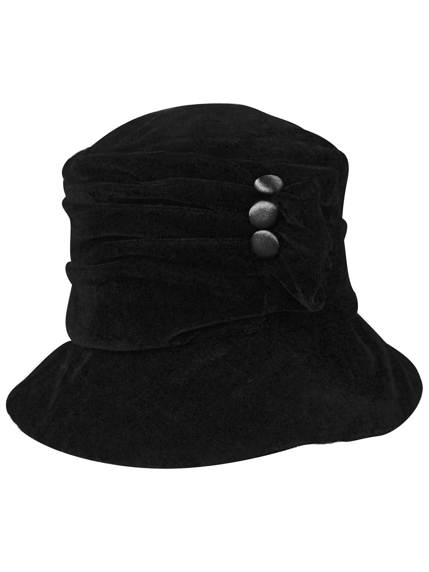 94c7781b89c6e VELVET-BUCKET-HAT-WITH-BUTTON-TRIM thumbnail 4
