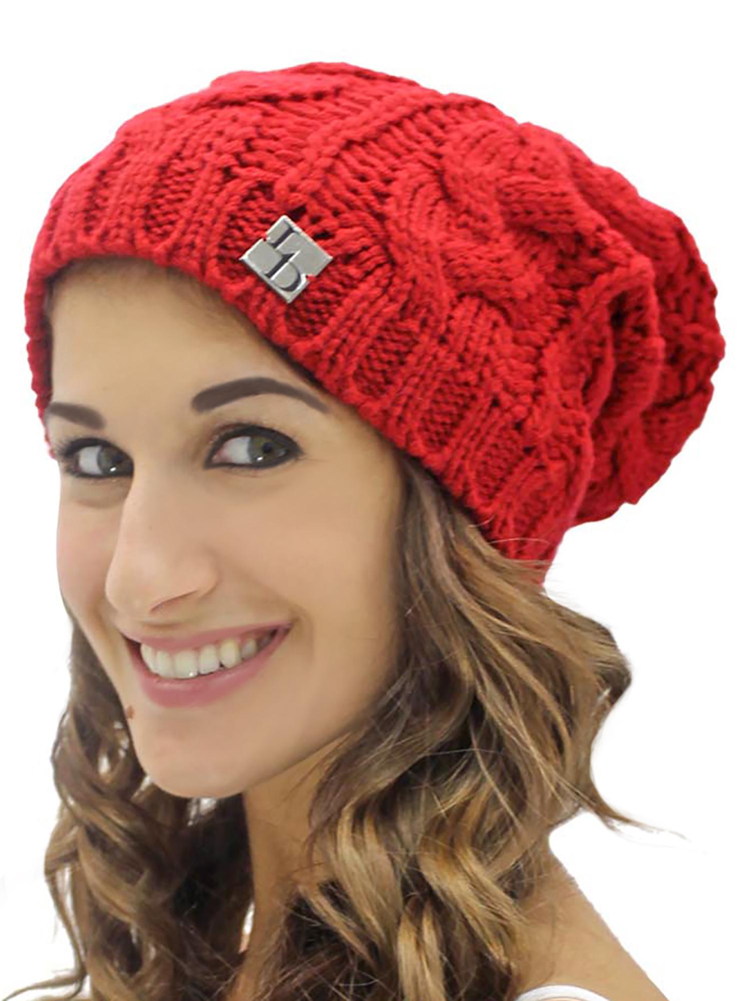 102c58ec107 CABLE KNIT UNISEX SLOUCHY BEANIE CAP HAT