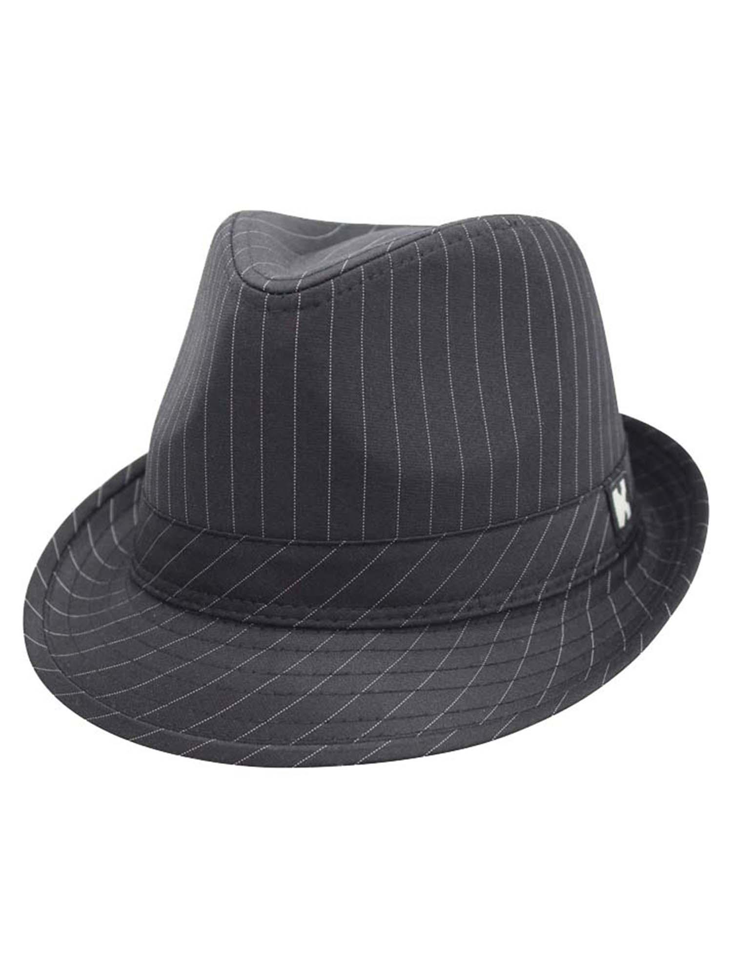 328452e035e4b BLACK CLASSIC PINSTRIPE TRILBY FEDORA HAT SIZE LARGE