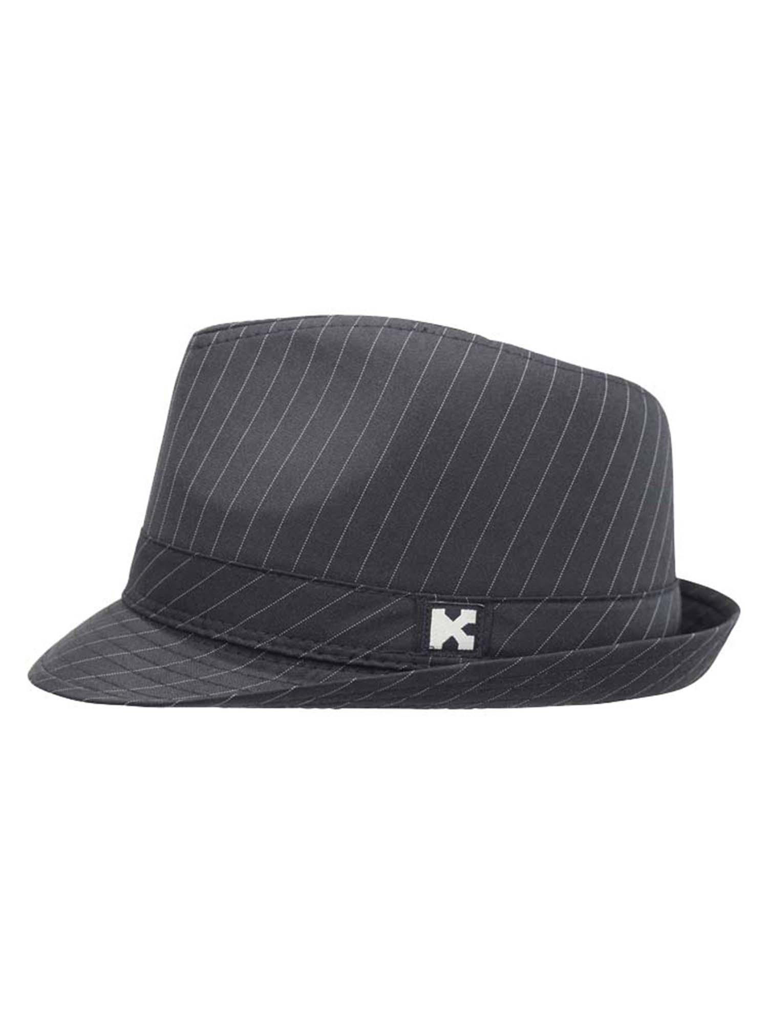 4c453c711cc7d Luxury Divas Black Classic Pinstripe Trilby Fedora Hat