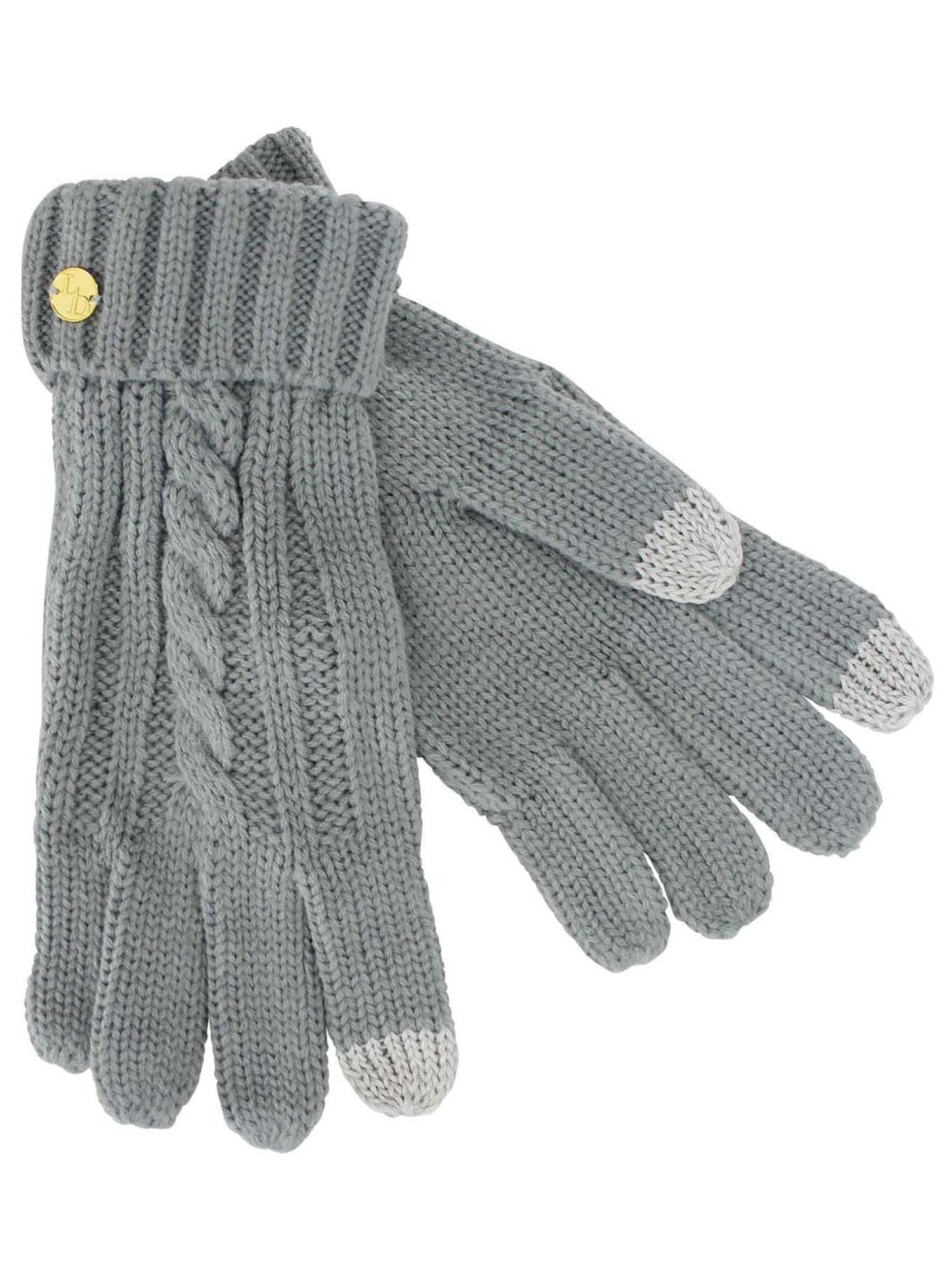 d64eab5bbfb CABLE KNIT 3 PIECE BEANIE HAT TEXTING GLOVES   MATCHING SCARF SET
