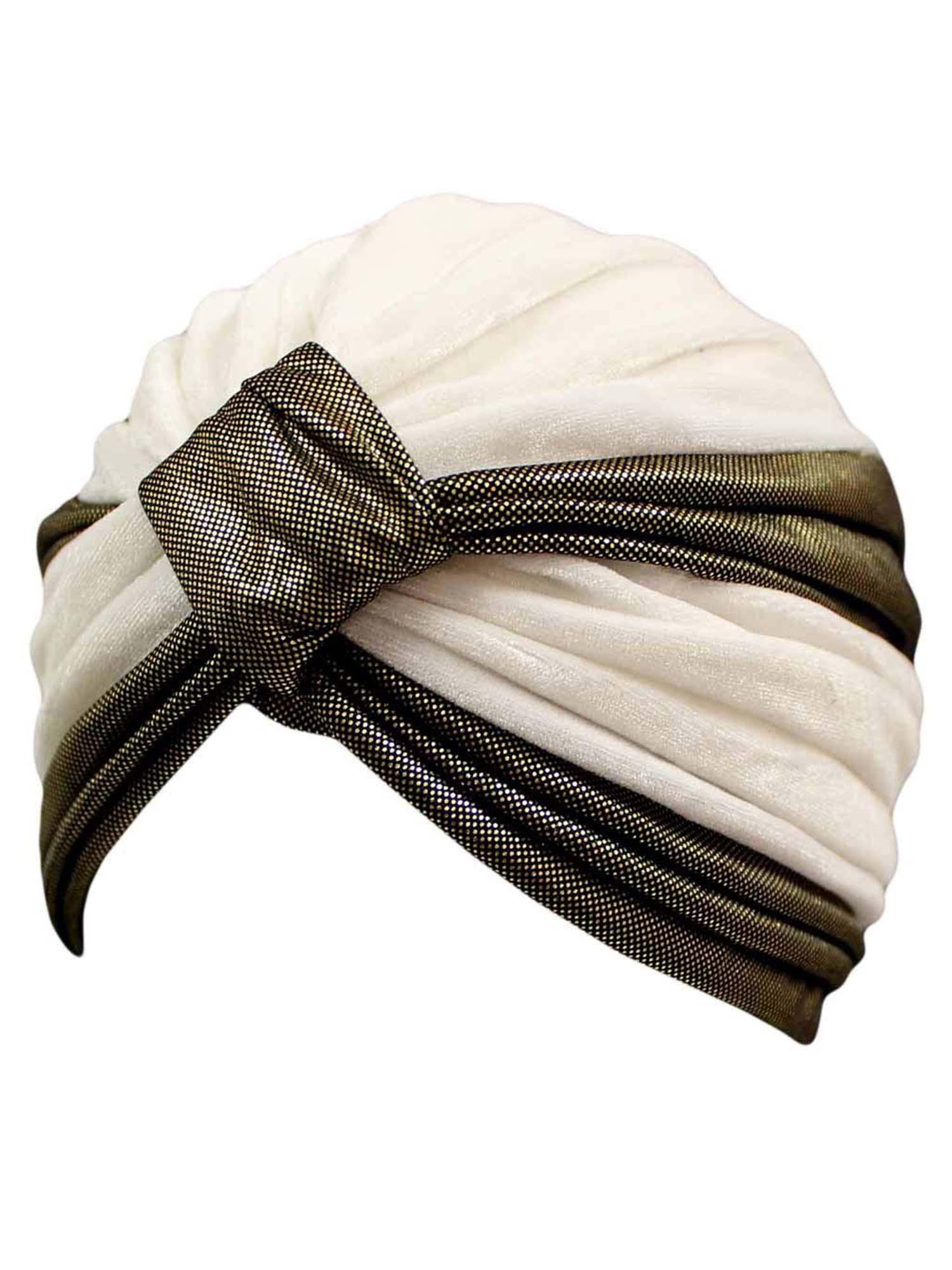 Details about TWO-TONE VELOUR FASHION TURBAN HEAD WRAP