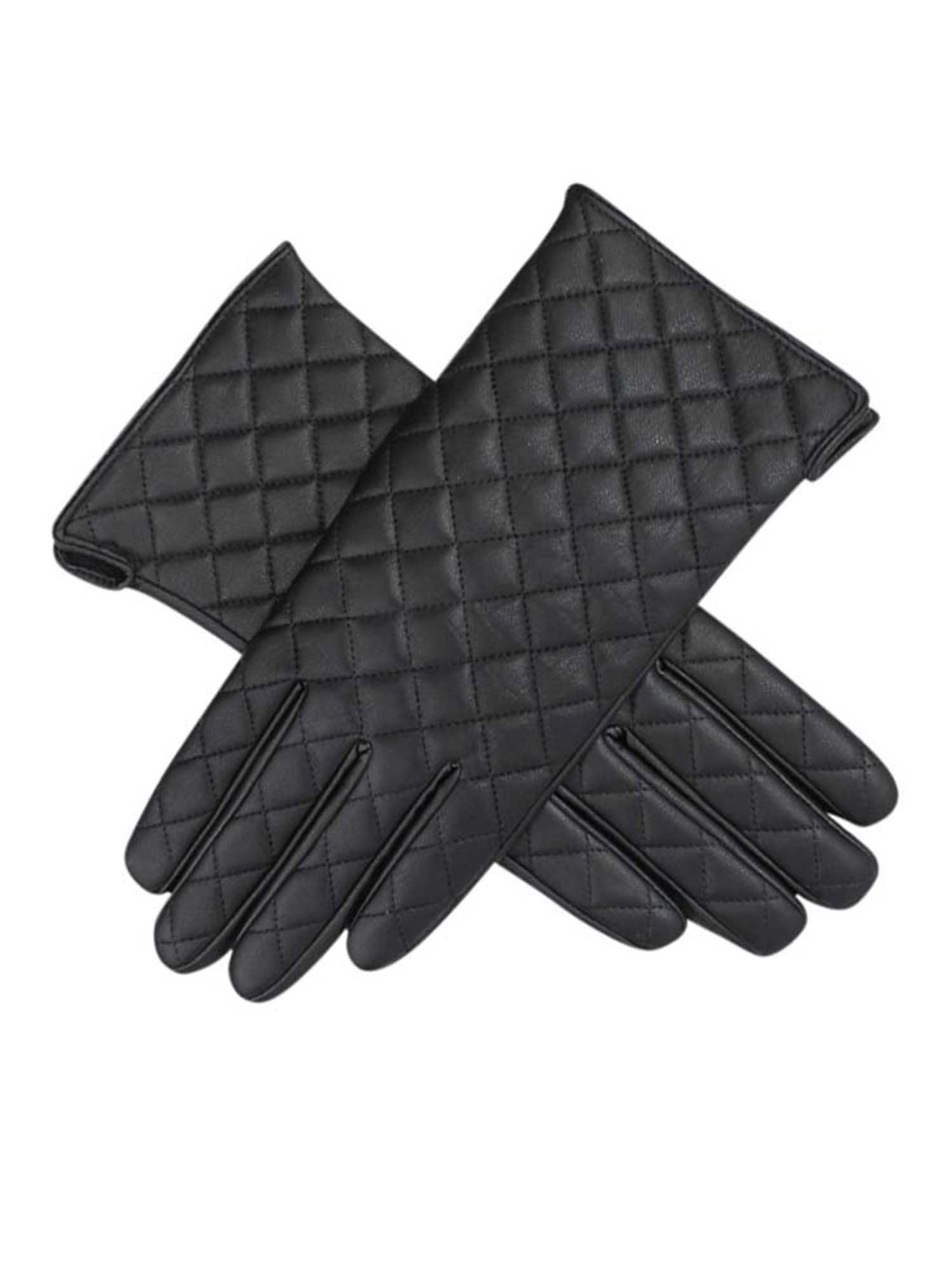9268e3e00 Luxury Divas Womens Quilted Faux Leather Winter Gloves