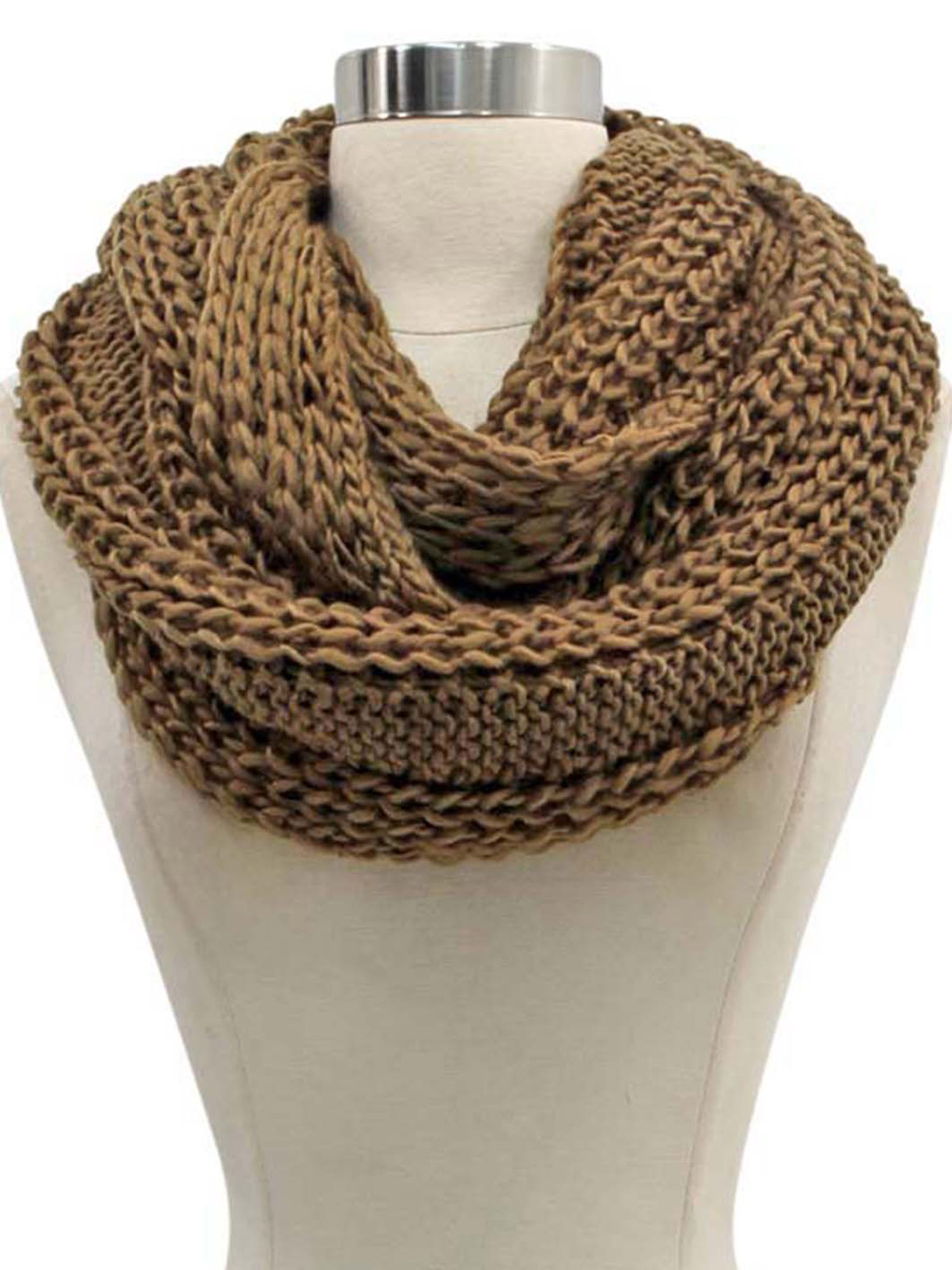 SIMPLE CHUNKY KNIT UNISEX WINTER INFINITY SCARF | eBay