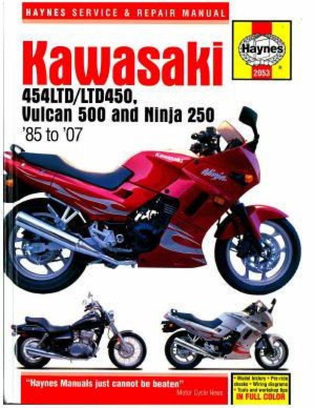 haynes repair manual en450 500 kawasaki en450a 454 ltd en500 vulcan rh ebay com kawasaki 454 ltd service manual pdf 1986 kawasaki 454 ltd service manual