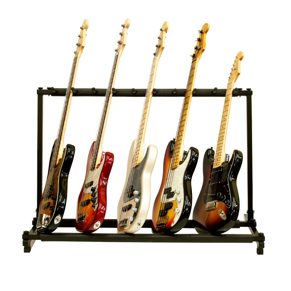 9 multiple guitar folding rack storage organizer stand holder electric acoustic ebay. Black Bedroom Furniture Sets. Home Design Ideas