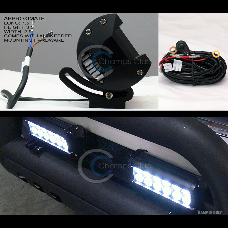 Chrome ss bull bar bumper guard36w cree led fog lights 2011 2016 ccbghd f25011 v2 chflbw 12cree lb whx2 aloadofball Gallery