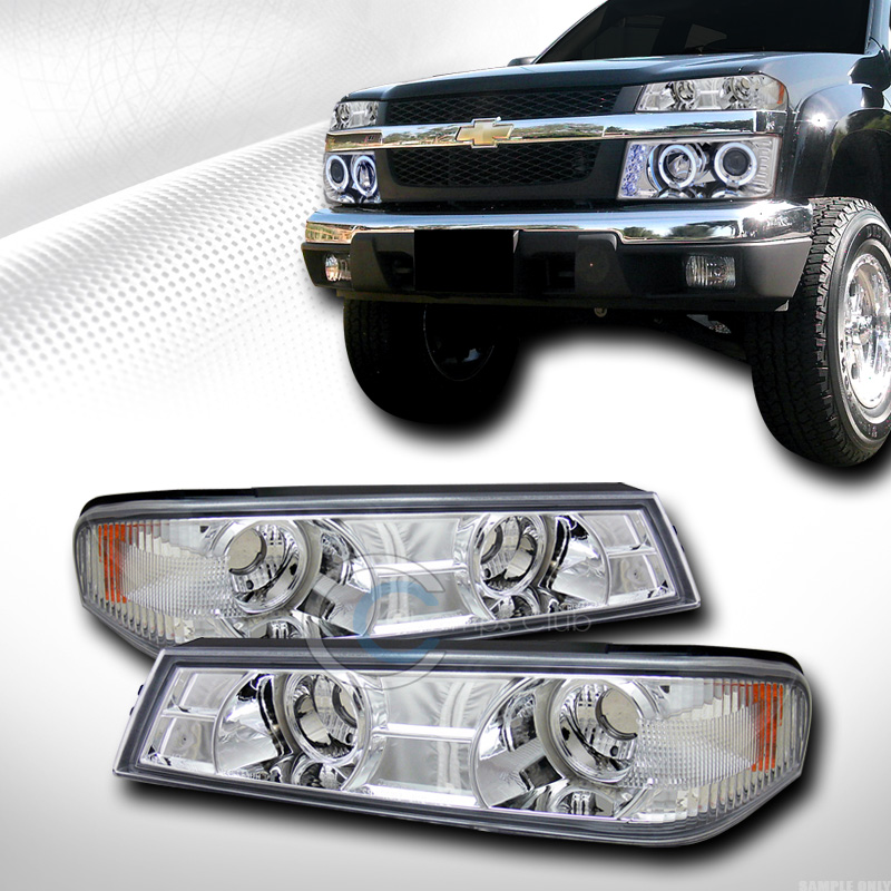 CHROME AMBER SIGNAL BUMPER CORNER LIGHT LAMP 2004-2012 CHEVY COLORADO/GMC CANYON