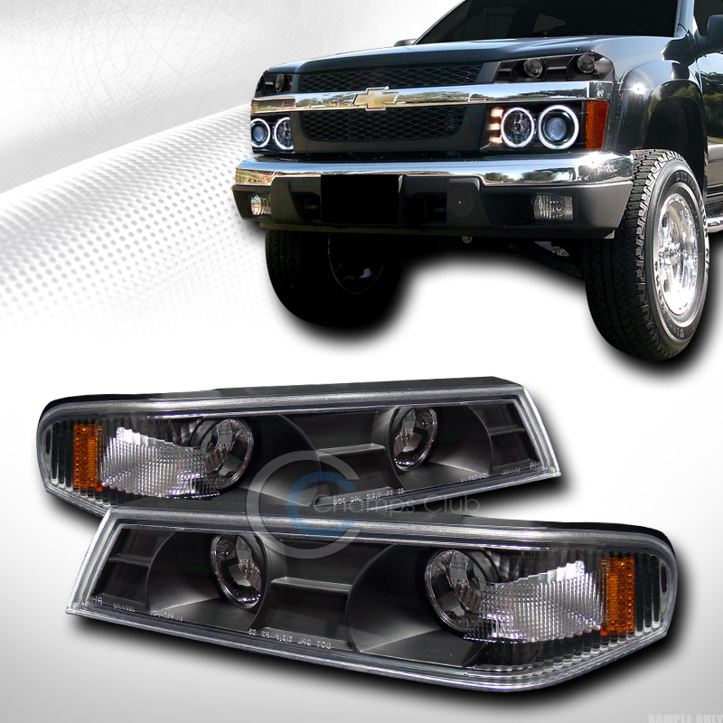Set Black Fog Lamp Spot Light Fit Chevrolet Colorado: BLACK AMBER SIGNAL BUMPER CORNER LIGHTS LAMP 2004-2012