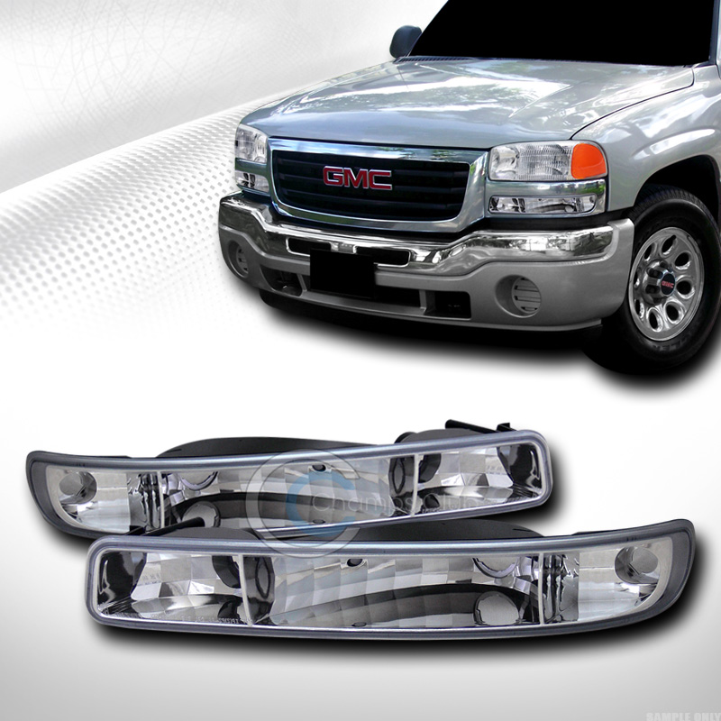 EURO CHROME SIGNAL PARKING BUMPER CORNER LIGHTS LAMPS JY 1999-2006 SIERRA/YUKON