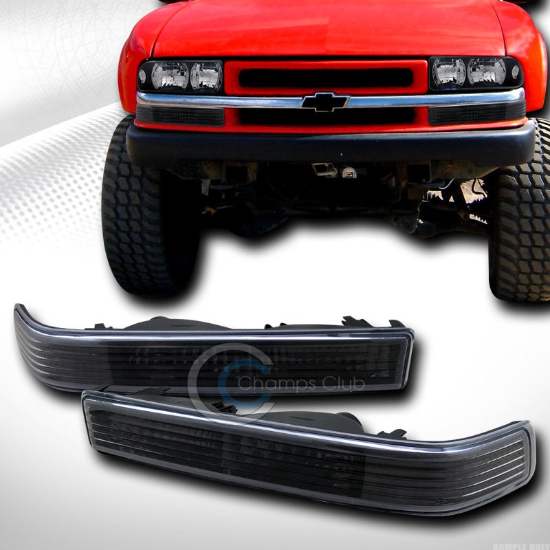 BLK CLEAR SIGNAL PARKING BUMPER LIGHTS LAMP K2 1998-2004 CHEVY S10 BLAZER SONOMA