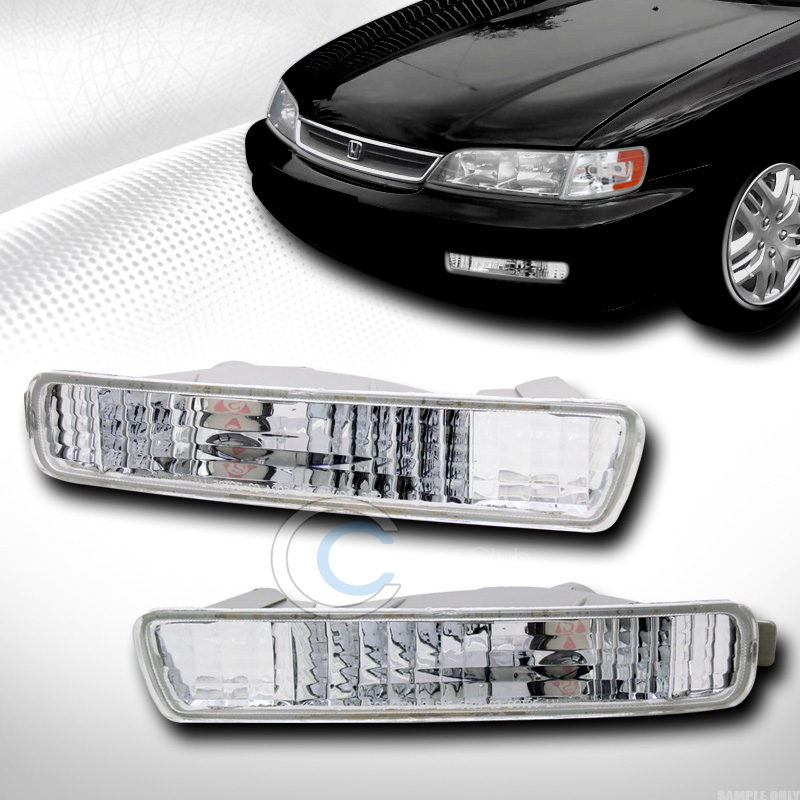 EURO CHROME CLEAR FRONT SIGNAL PARKING BUMPER LIGHTS LAMP 1994-1995 HONDA ACCORD