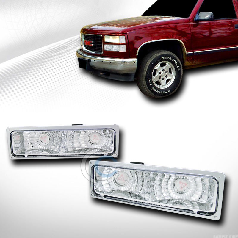 EURO CHROME SIGNAL BUMPER LIGHTS LAMPS YD 1988-2000 CHEVY GMC C10 C/K TRUCK/SUV