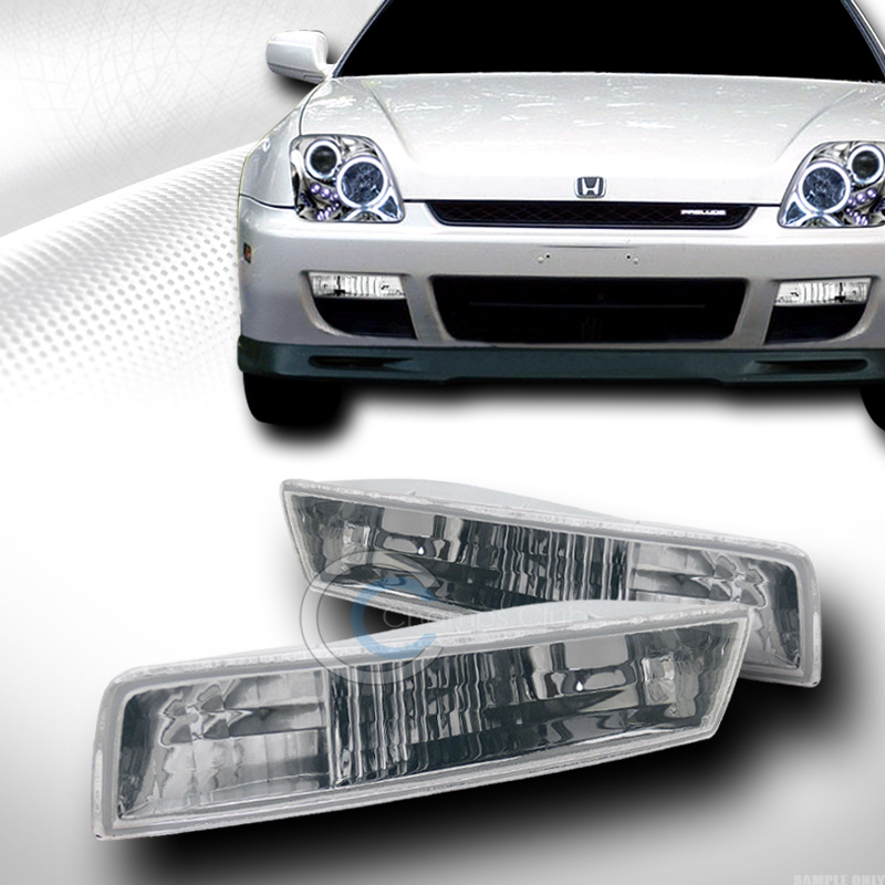 EURO CHROME FRONT SIGNAL PARKING BUMPER LIGHTS LAMPS YD 1997-2001 HONDA PRELUDE