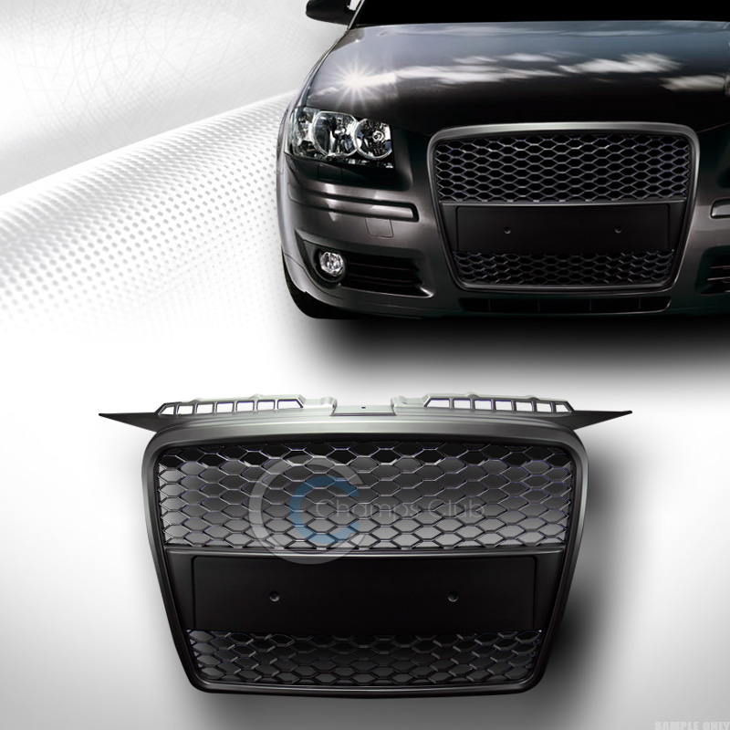 blk sport honeycomb mesh front hood bumper grill grille. Black Bedroom Furniture Sets. Home Design Ideas