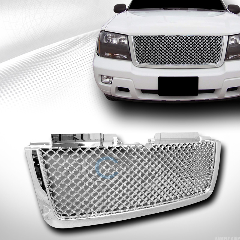 Chrome sport mesh front hood bumper grill grille cover abs 06 09 image is loading chrome sport mesh front hood bumper grill grille publicscrutiny Choice Image