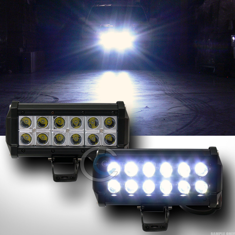 2x 7 36w cree led light bar spot beam off road bull guard roof image is loading 2x 7 034 36w cree led light bar mozeypictures Choice Image
