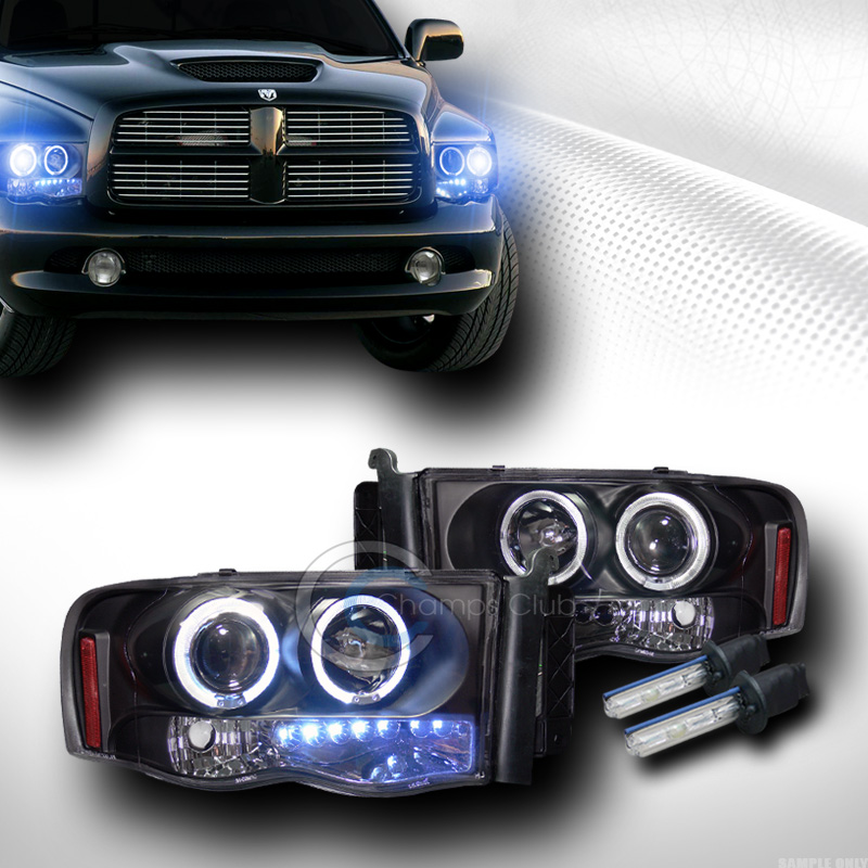 10000k Hid Xenon W Black Drl Led Halo Projector Head