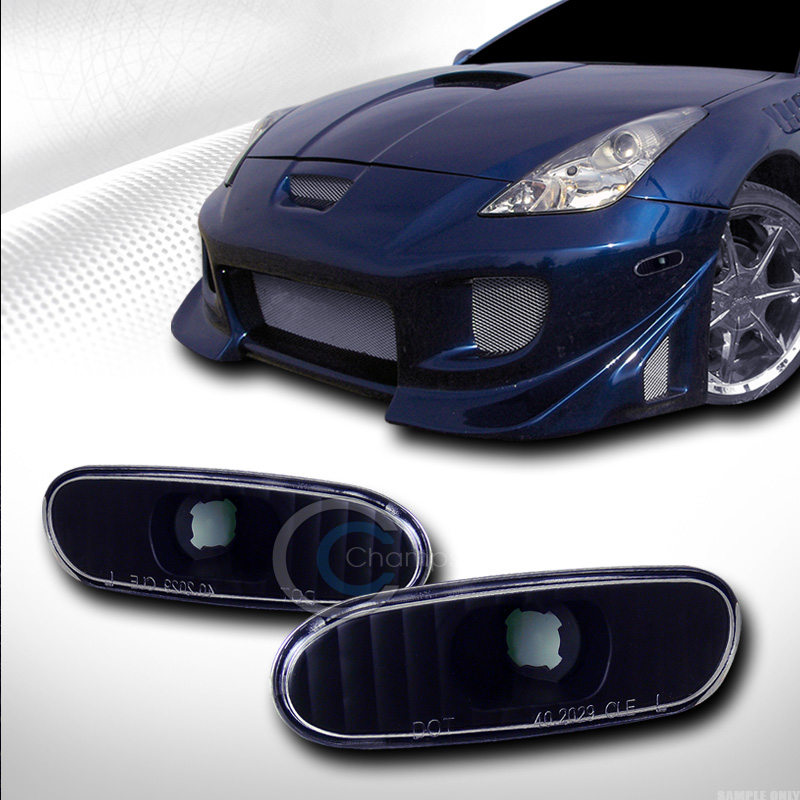 Image Is Loading BLACK CLEAR FRONT PARKING BUMPER LIGHTS LAMPS 2000